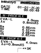 Рис.5 Профилограмма шлифованной шейки